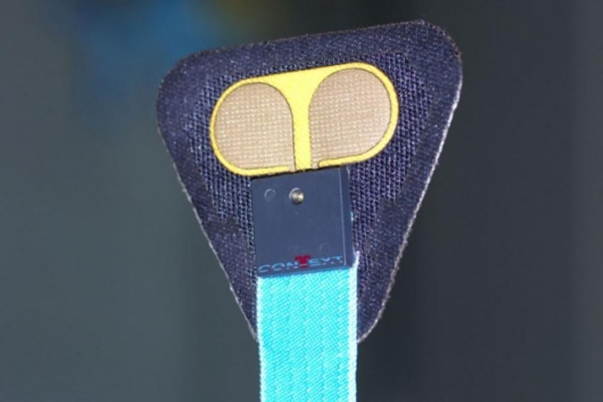 One of the sensors being developed for the Stress Vest