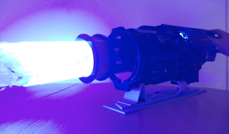 The Laser Gatling Gun shoots a ring of laser light
