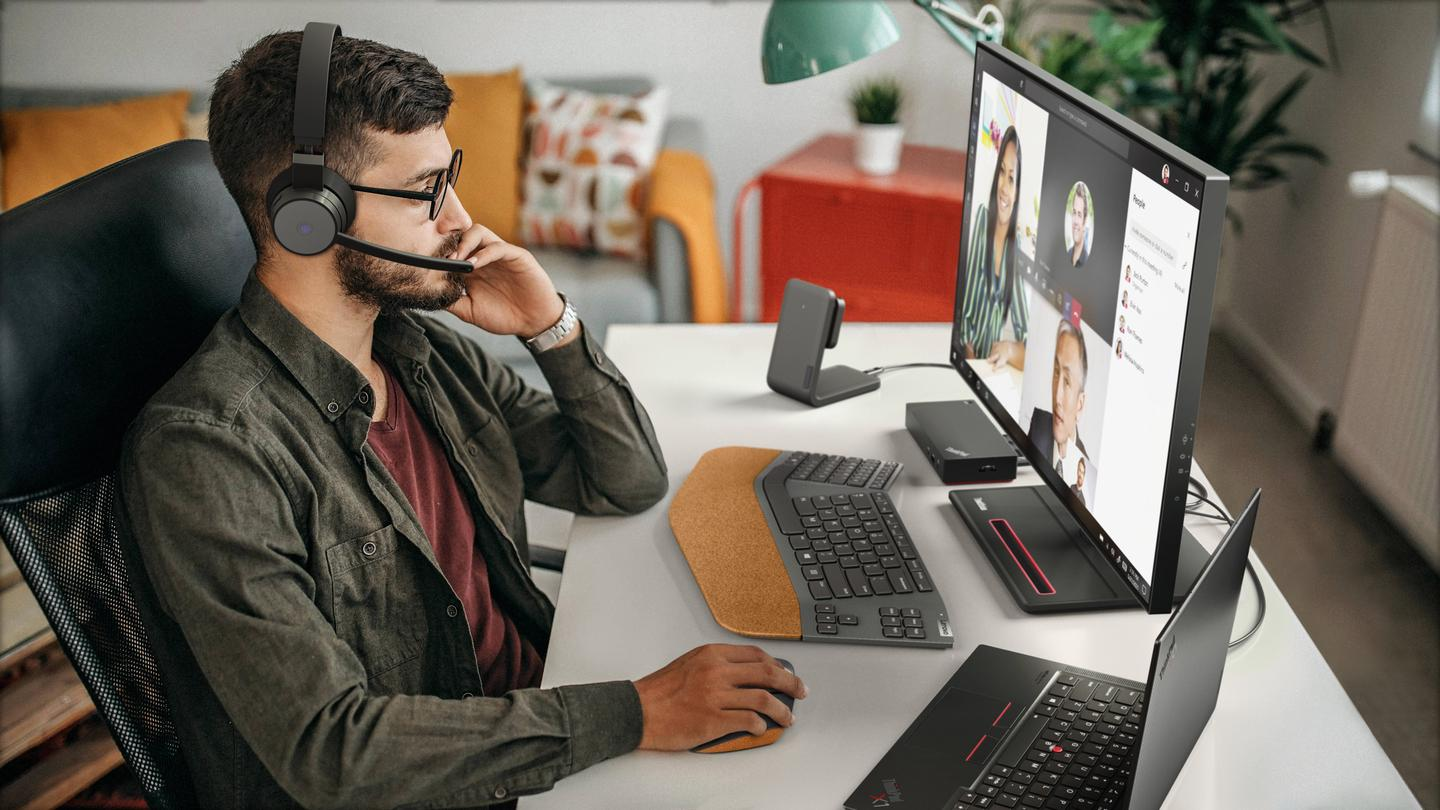 Lenovo Go headphones with a boom mic for online communications are due for launch in 2021
