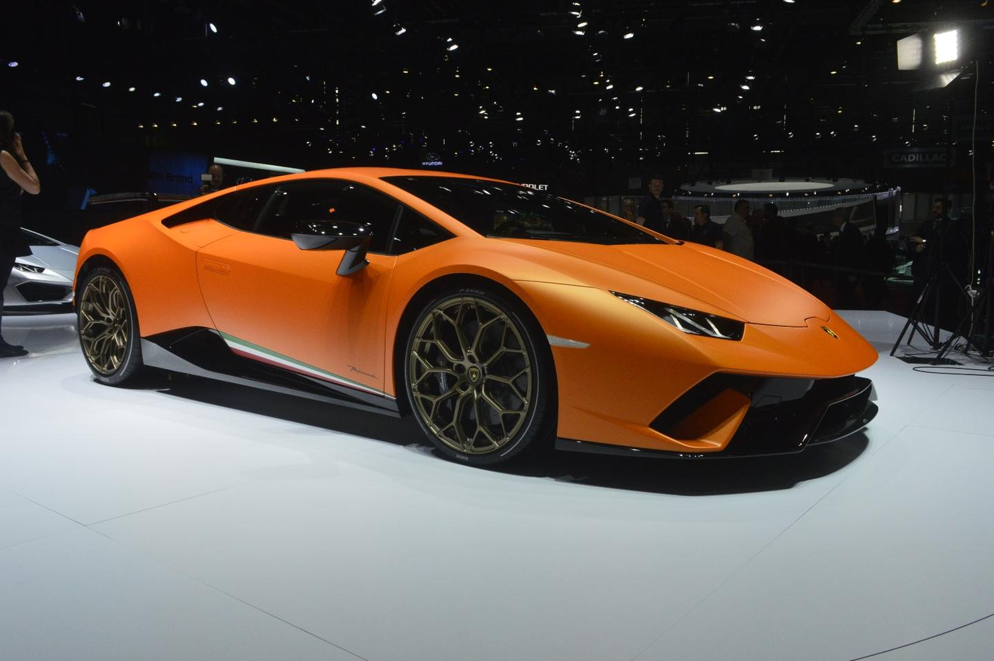 The Huracan Performante on show in Geneva