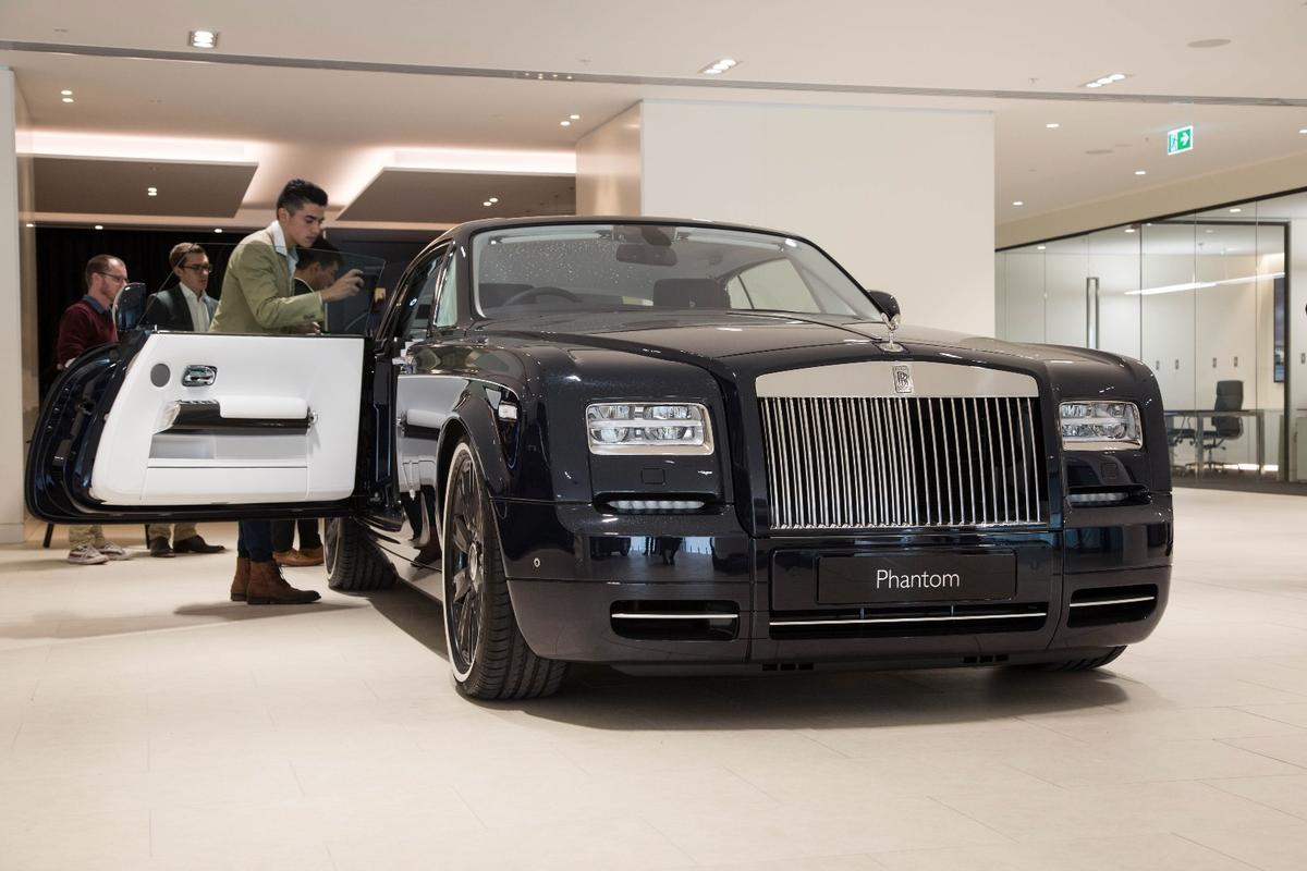 The Rolls-Royce Phantom Zenith,number 35 of 50, on show at the company's Melbourne showroom