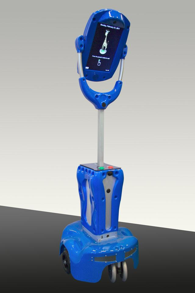 The Giraff robot is the hub of the remote healthcare system