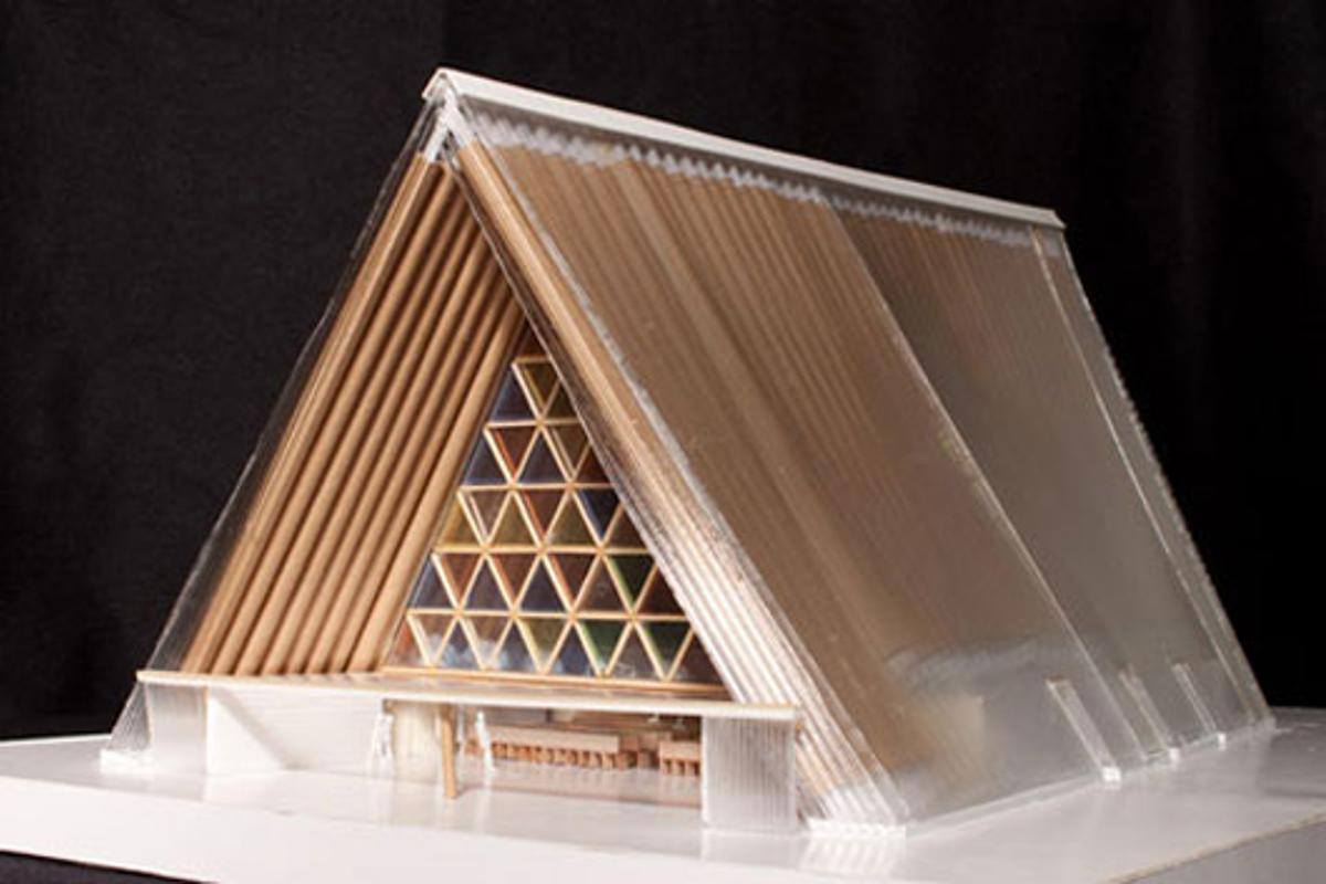 A model of the planned Christchurch Cathedral (Image: Shigeru Ban)