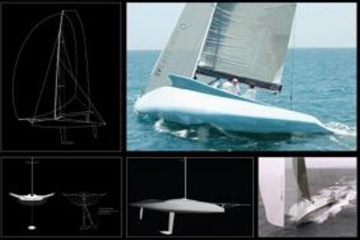 Hydraulically tilting keel the focus of new race yacht concept