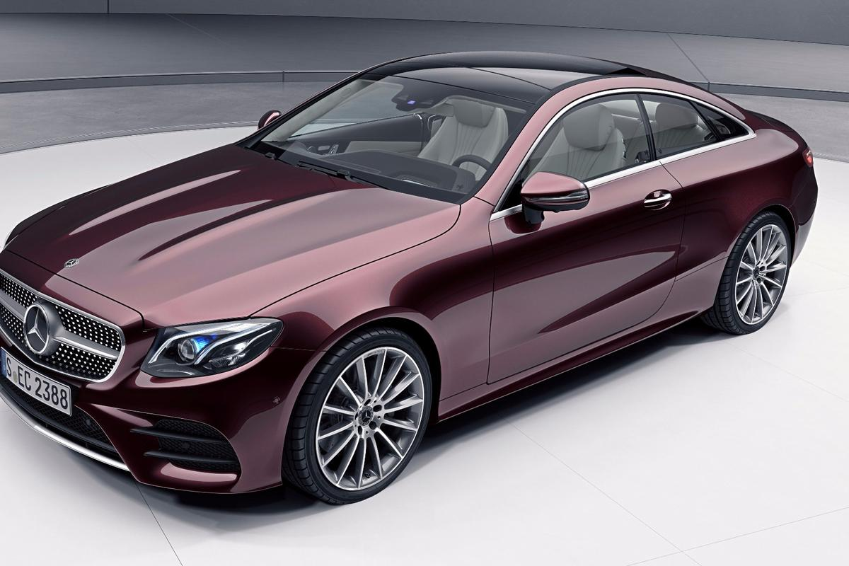 The Mercedes-Benz E-Class Coupé will benefit from a new four-cylinder engine that is combined with a 48-volt electrical system