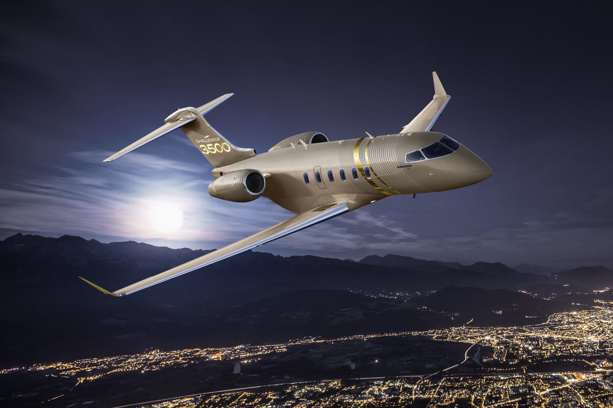 Artist's concept of the Challenger 3500