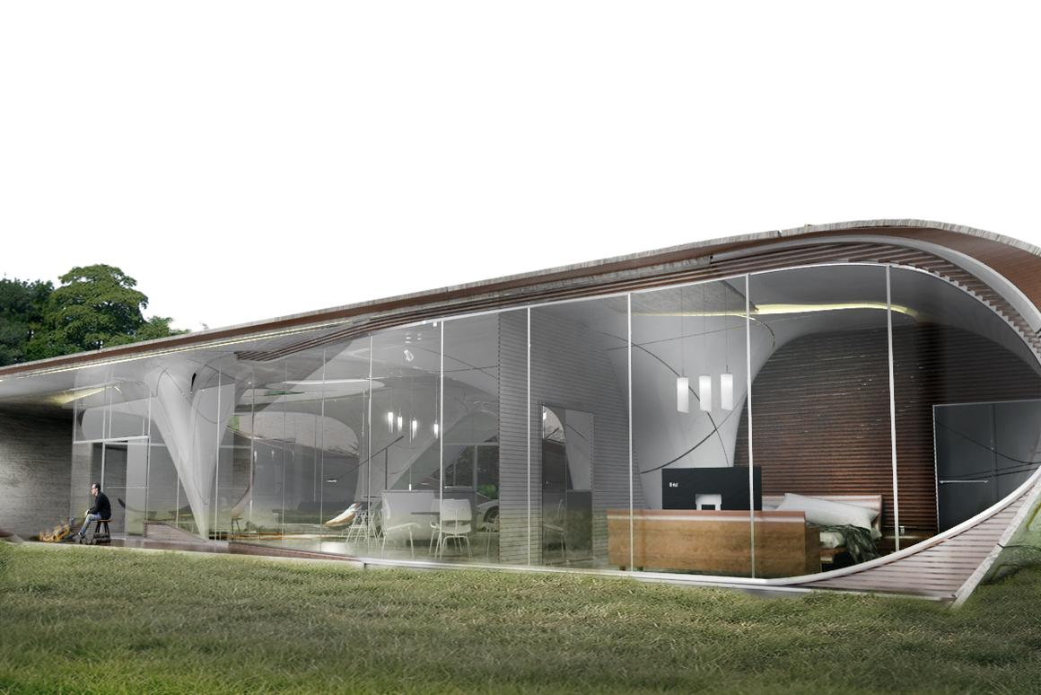 It is hoped that the large expanses of glass will help to connect the occupants to the outside and to nature