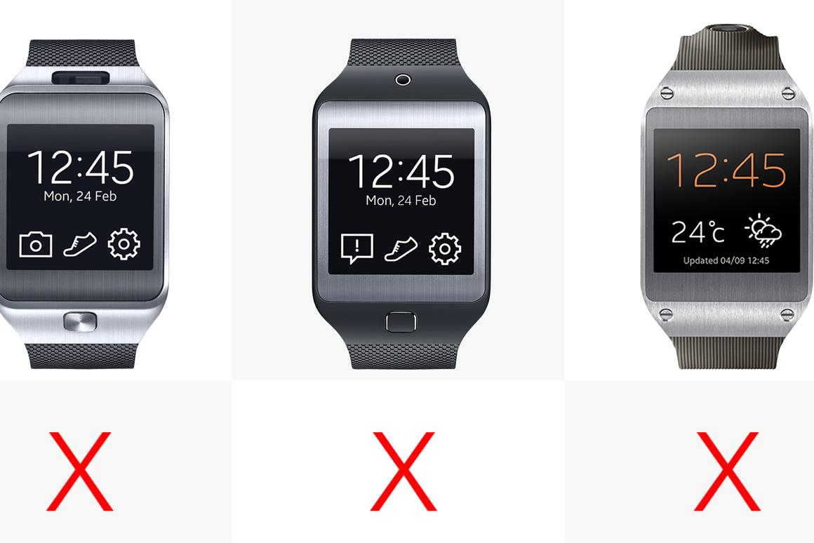 Comparing the six Samsung Gear smartwatches