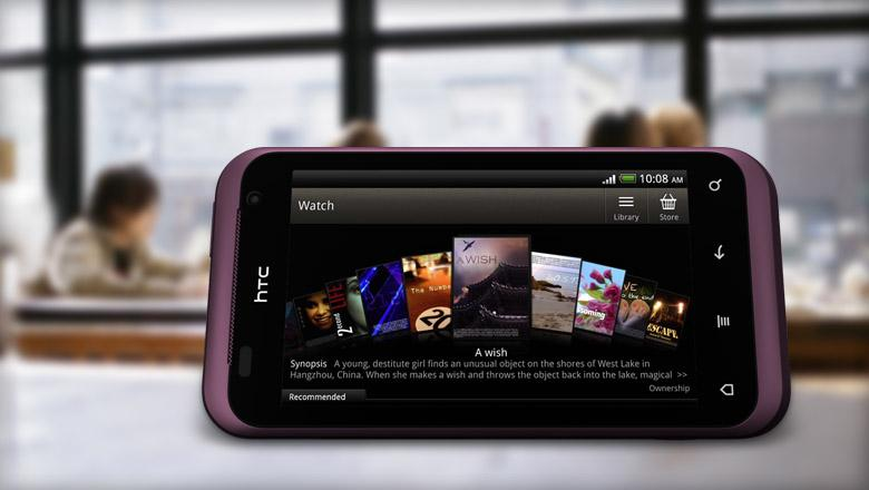 The HTC Rhyme's 5-megapixel camera comes autofocus- and LED flash-equipped, offering 720p video recording and instant shutter