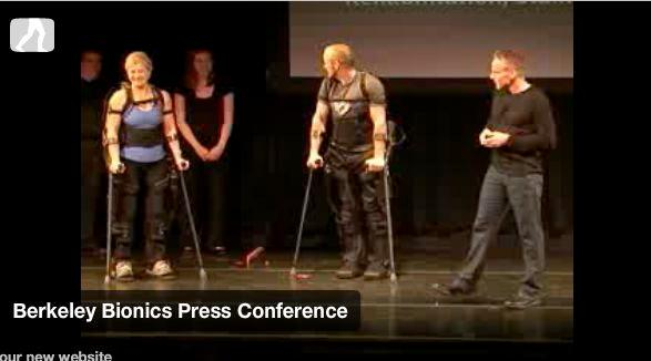 """""""Test pilots"""" at the eLEGS press conference in San Francisco"""