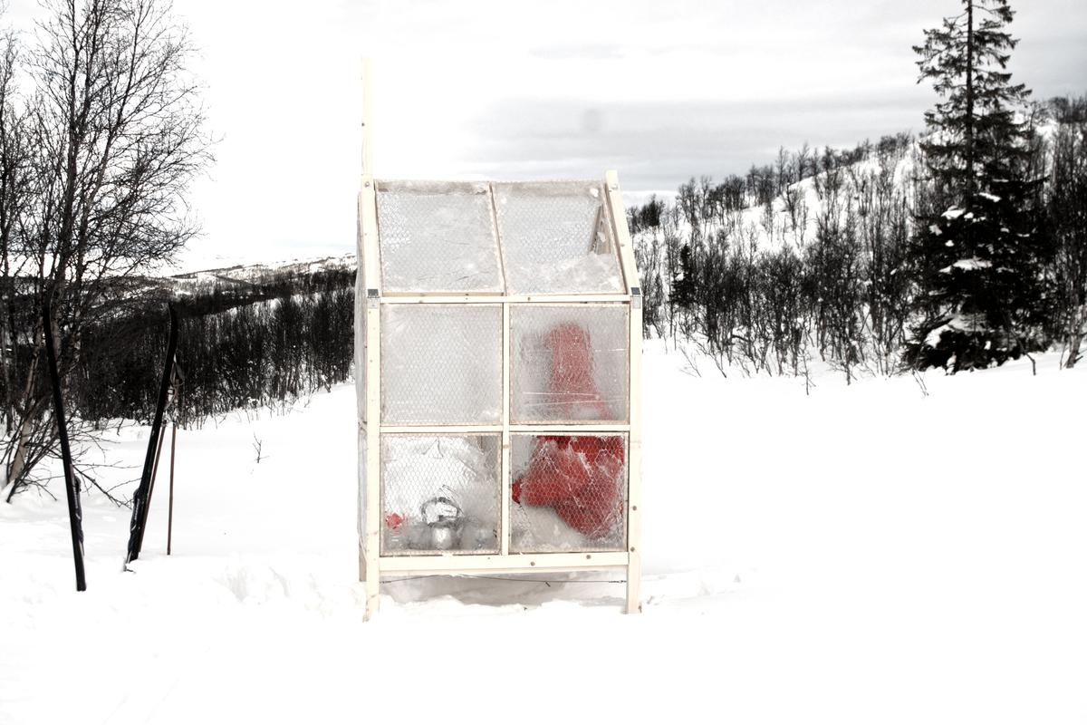 Unavailability is an achingly simple piece of design, functioning as a folding fishing hut with walls of ice