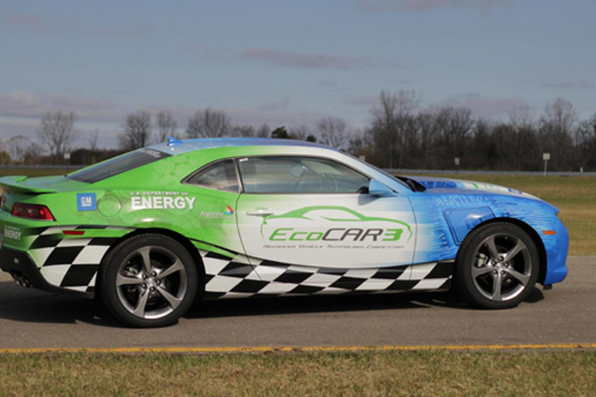 EcoCAR 3 tasks students with updating the iconic Chevrolet Camaro muscle car into a hybrid-electric vehicle