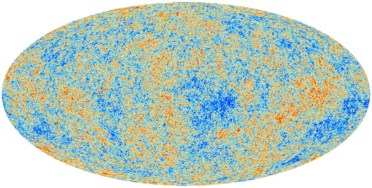 The ESA's Planck space telescope has revealed a detailed image showing the 'afterglow' of the Big Bang (Image: ESA)