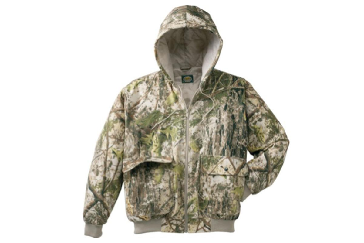 """Cabela's ColorPhase Insulated Hooded Jacket, in its """"warm"""" phase"""
