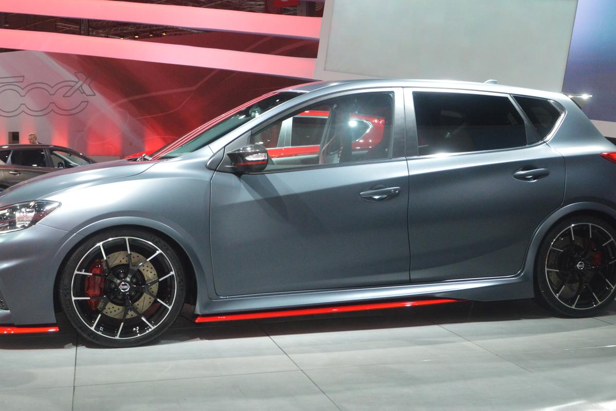 Nissan has given the Pulsar Nismo a more aggressive stance (Photo: C.C. Weiss/Gizmag)