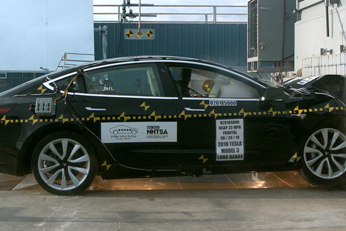 Tesla, and electric cars in general, have someadvantages over ICE-powered vehicles when it comes to crash safety