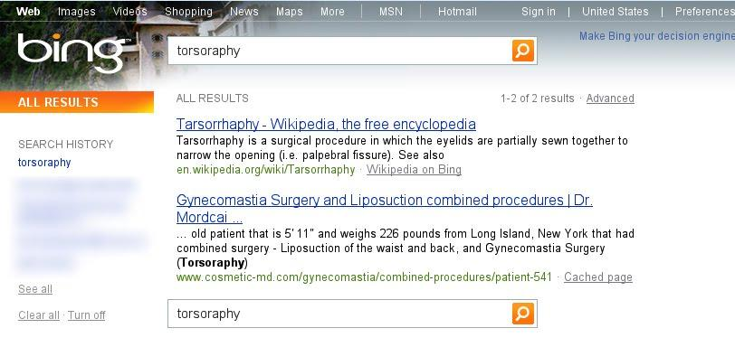 Bing caught recycling Google search results.