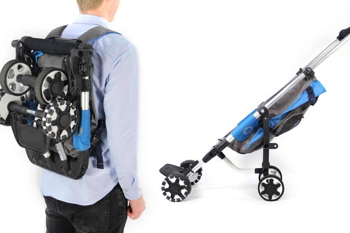 The OmniO Rider is a stroller which can also be worn like a backpack