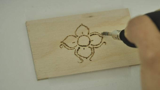 The Solderdoodle Plus has a hot tip for creating burnt wood art