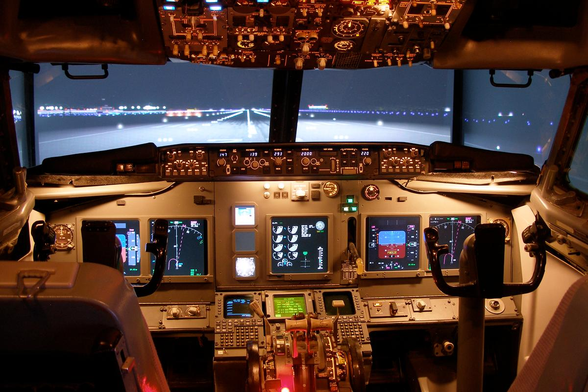 Air traffic controller and pilot James Price has spent $150,000 and the last 12 years building a flight simulator made from an actual Boeing 737 nose section