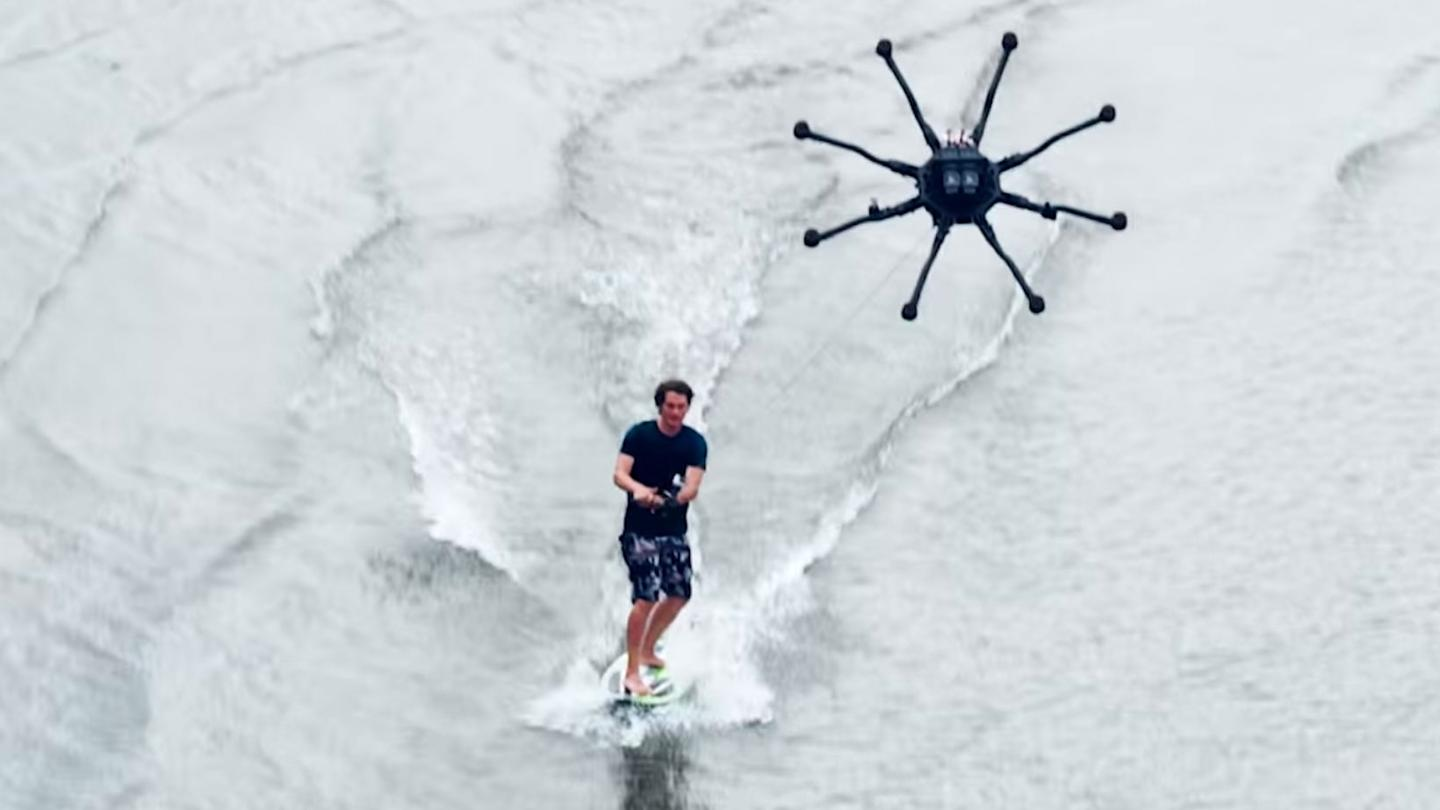 Freefly Systems has previewed a potential new sport: dronesurfing