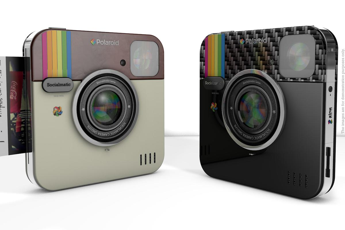 A design concept of two models of the Socialmatic camera