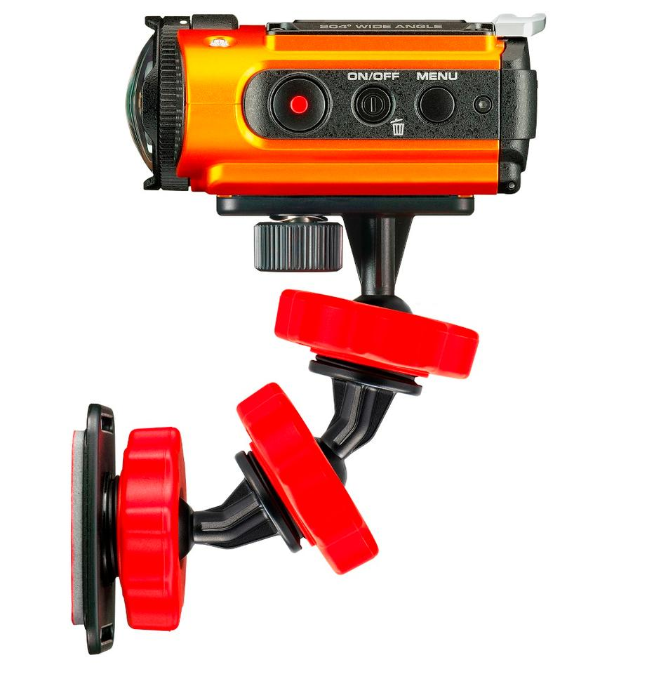 The Ricoh WG-M2 action camera is compatible with a wide selection of WG mounts