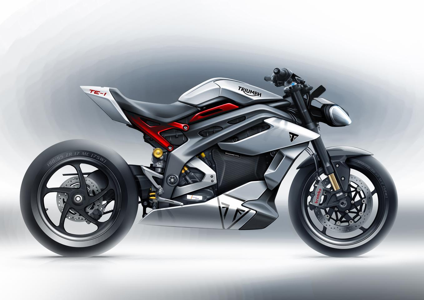 Triumph's upcoming TE-1 prototype will be a wild, 174-horsepower electric Speed Triple lookalike with a groundbreaking powertrain developed in conjunction with Williams Advanced Engineering
