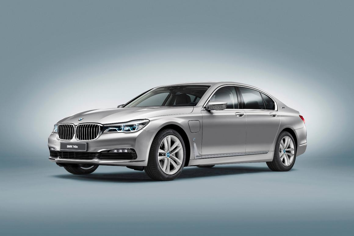 The new BMW 7 Series plug in hybrid electric vehicle (PHEV) begins with the innovative 7 Series sedan, with its lightweight bodywork
