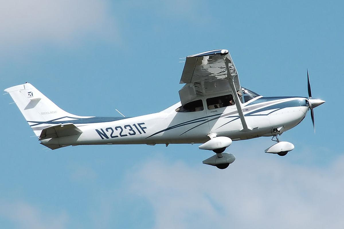The Turbo 182 NXT is based on the Cessna Model 182 Skylane, shown here
