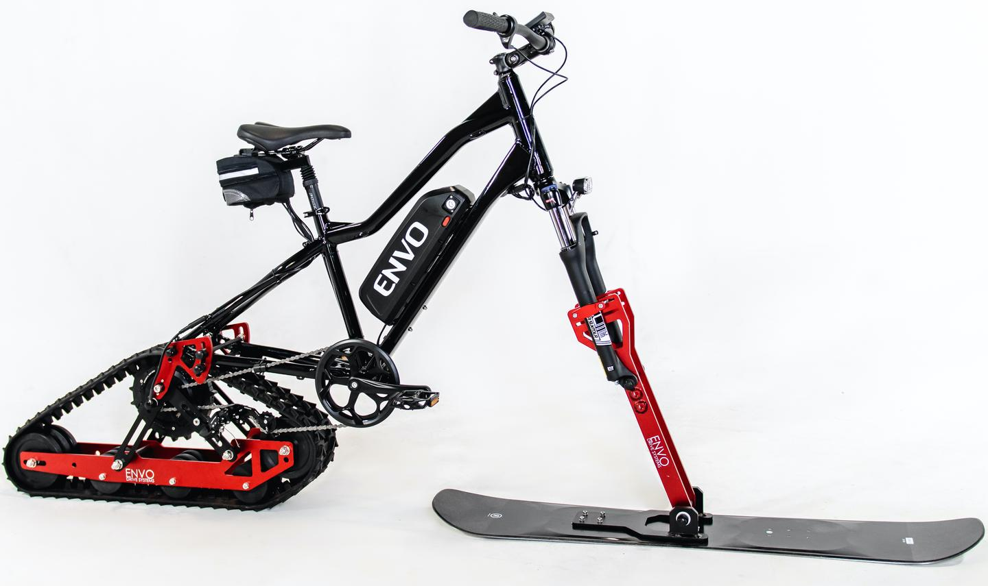 According to Envo, the kit delivers a top motor-assisted speed of 18 km/h (11 mph) and is good for a range of about 10 km (6 miles) – or two hours of use – per 8-hour charge