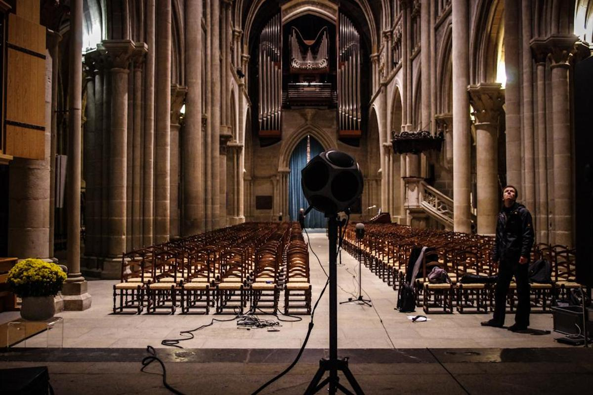 EPFL's system in use at the Lausanne Cathedral in Switzerland