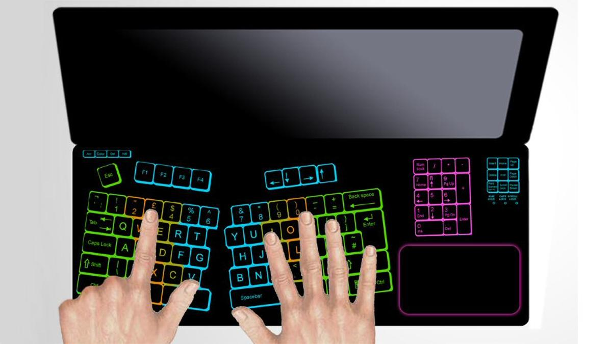The Keyless LifeBook concept from designer Laura Lahti would allow users total control over a laptop's keyboard layout