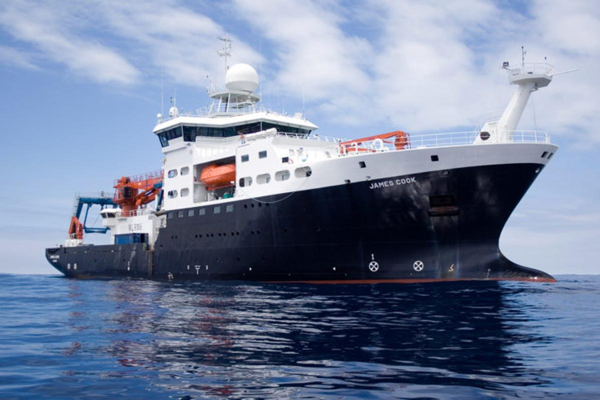 RRS James Cook, which will sail for South Georgia in late January 2021