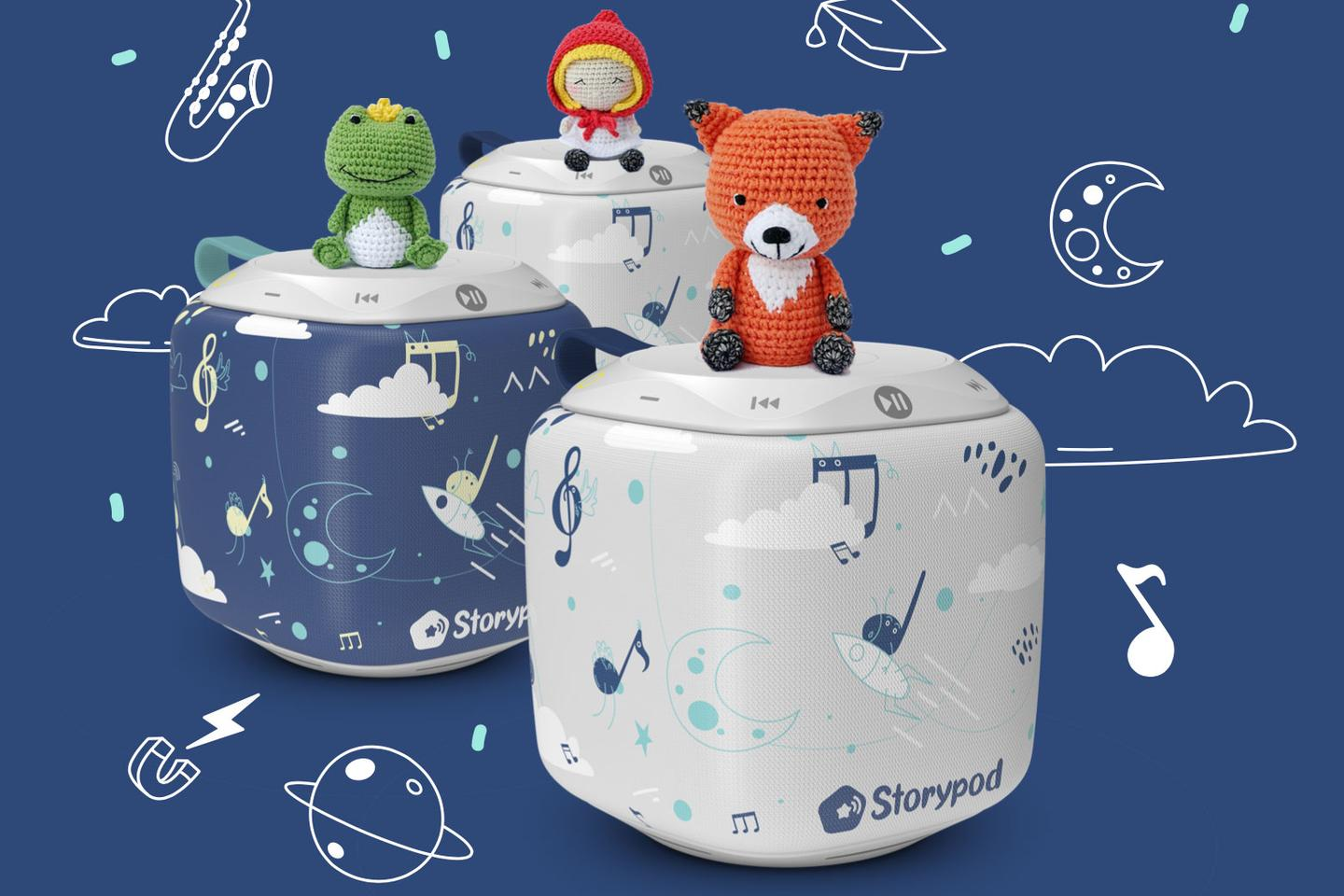 Storypod is a smart speaker that works with cute yarn figurines to deliver kid-friendly stories, songs and games