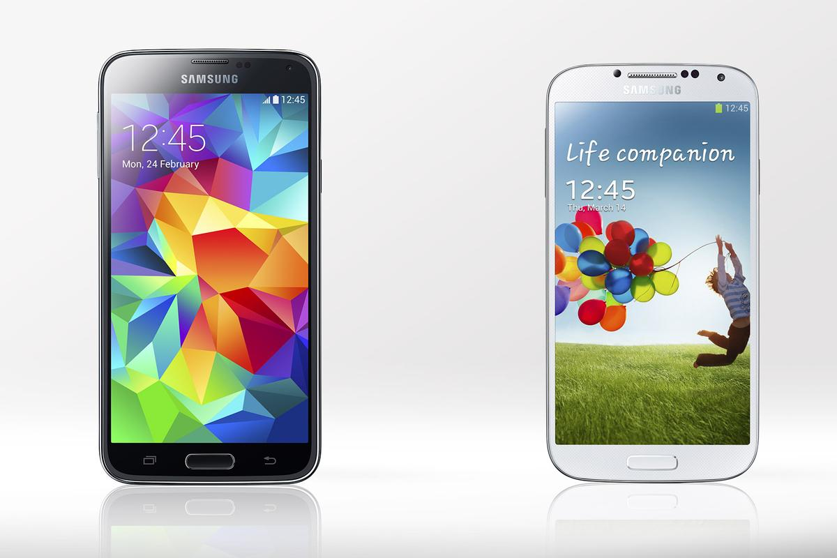 Gizmag compares the features and specs of the Samsung Galaxy S5 and Galaxy S4