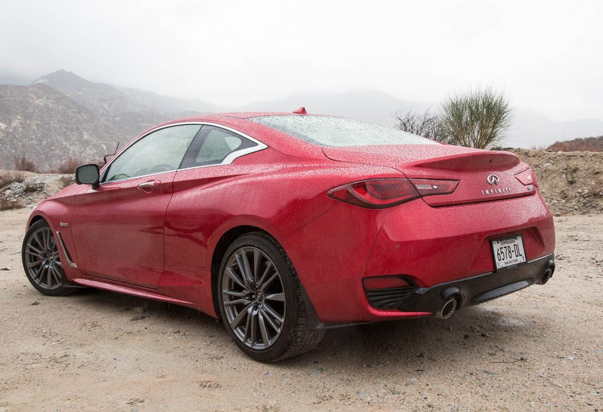 The Infiniti Q60 400Red Sport is largely unchanged from the concept that preceded it