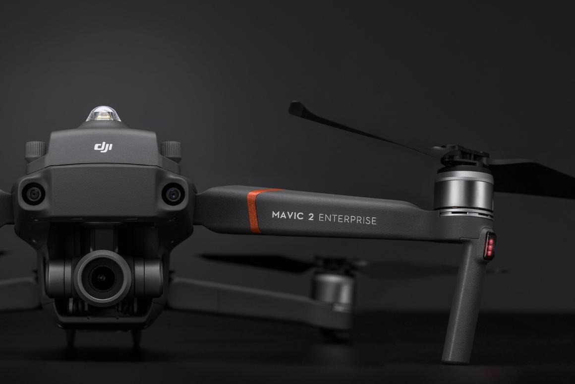 The DJI Mavic 2 Enterprise drone comes with a remote controller, a battery, three mountable accessories and a protective case with flight tools