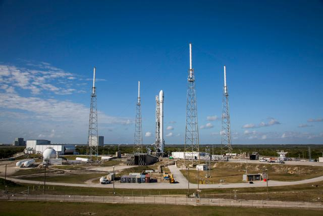 SES-9 on the launch pad Wednesday