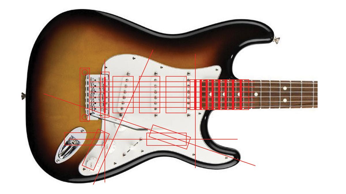 """The """"conflicting motion paths"""" of a player who needs to tweak the tone or volume, or select a different pickup, during a song"""