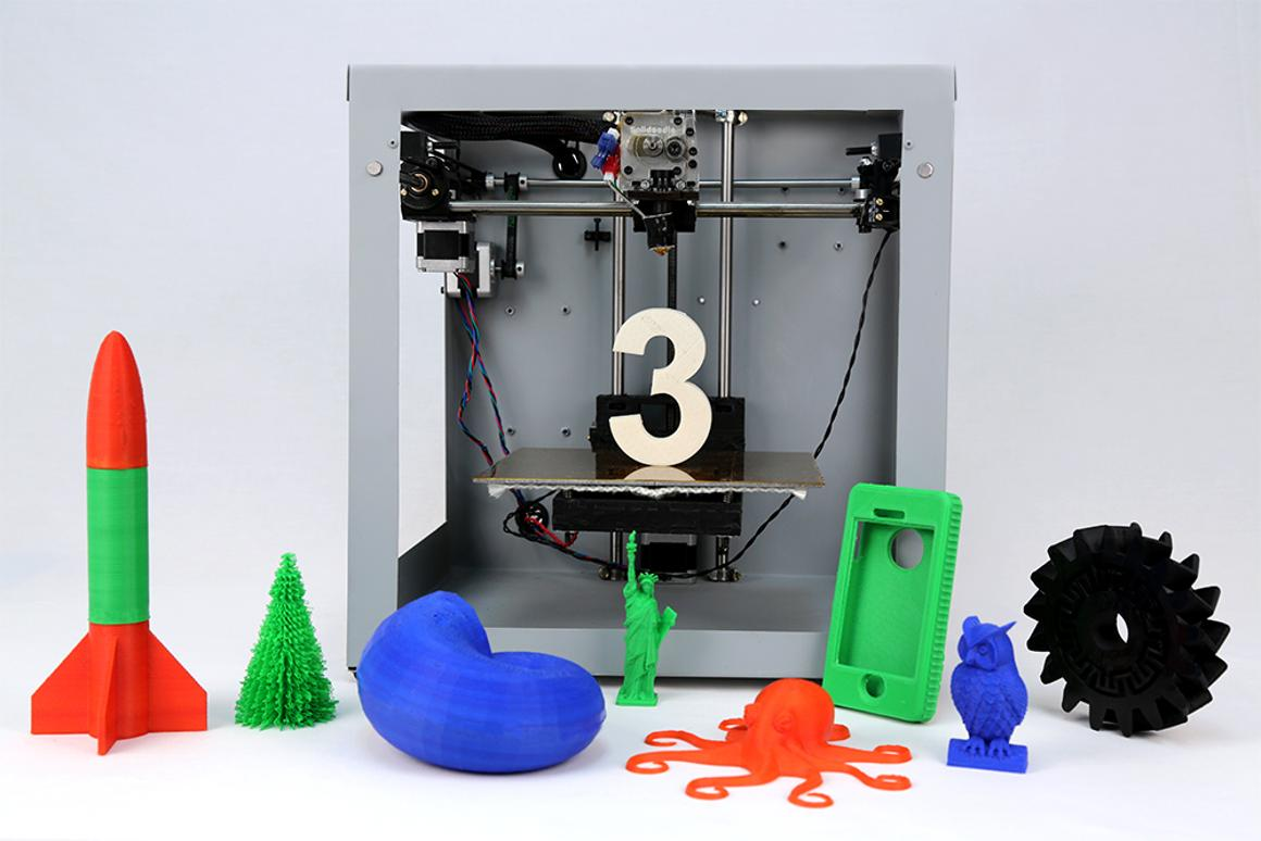The Solidoodle 3 boasts a build area of 8 x 8 x 8 inches