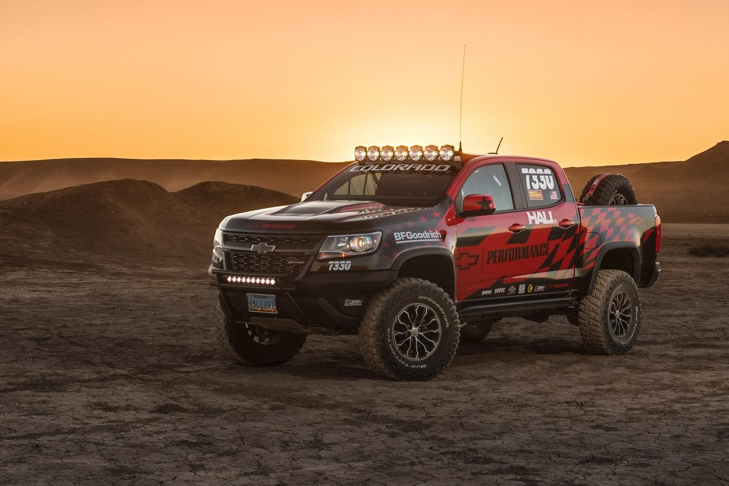 Chevy Performance is using the race and the truck as a test bed for potential parts and items to be used as dealer add-ons or standard factory installs