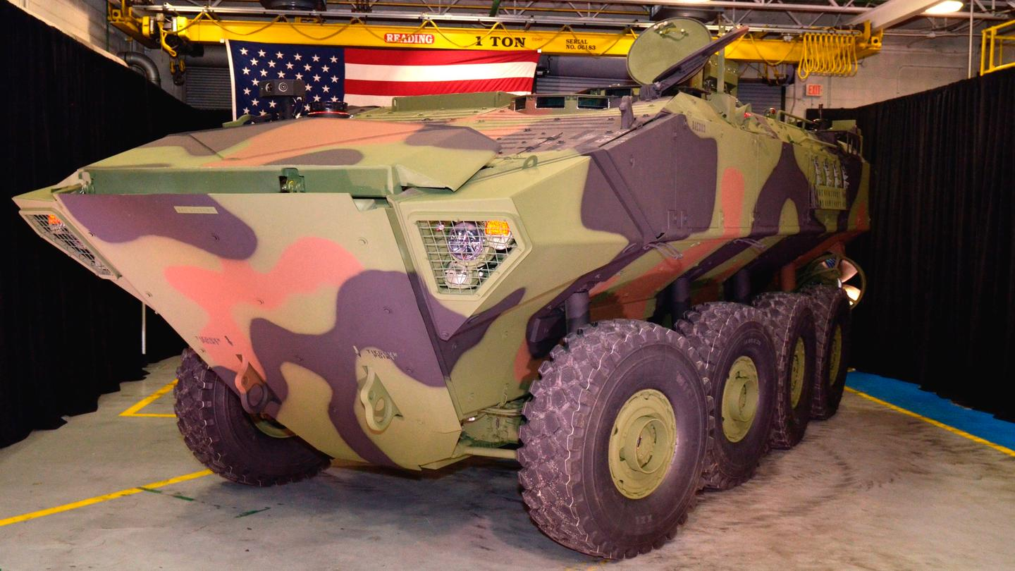 BAE Systems rolled out the first of 16 Amphibious Combat Vehicle (ACV) 1.1 prototypes to the US Marine Corps in a ceremony at the company's York, Pennsylvania facility