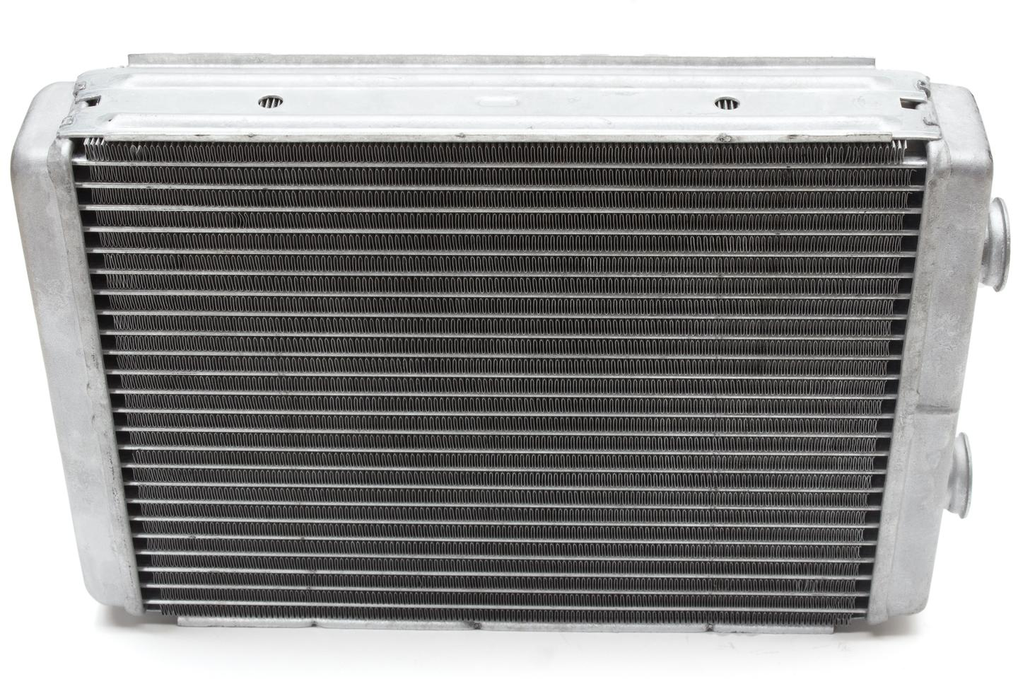 An automobile radiator, made of conventional metals