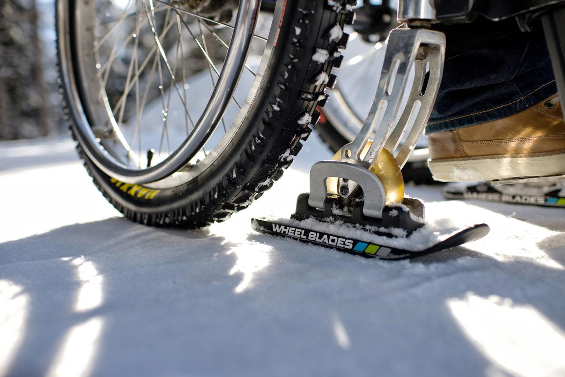 Wheelblades help prevent the front wheels from sinking