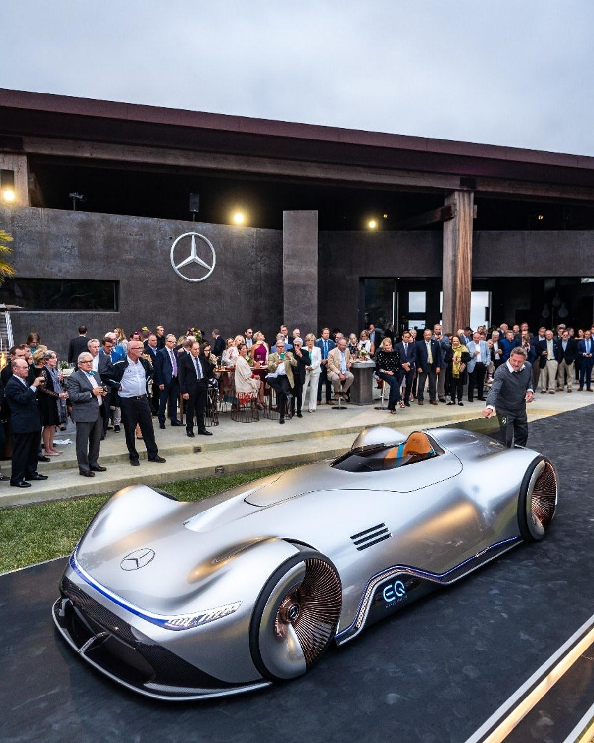 Mercedes debuted the radical Vision EQSilver Arrow at Monterey Car Week 2018