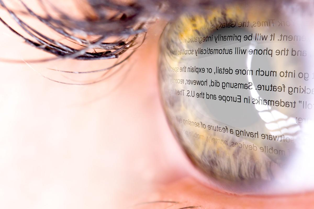 The Samsung Galaxy S IV will reportedly let customers scroll through text using only their eyes (eye image: Shutterstock)