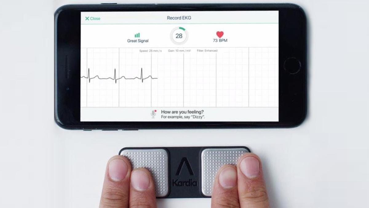 Asmartphone-based system has proven almost as accurate as conventional ECG diagnostic tools for detecting a serious kind of heart attack