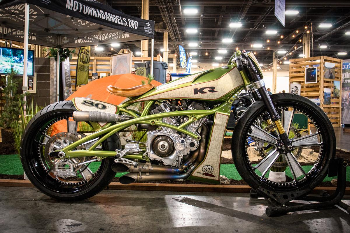 Roland Sands built this extraordinary KRV5 tracker, a gorgeous custom built around a Kenny RobertsV5 MotoGP engine (circa 2002-05)