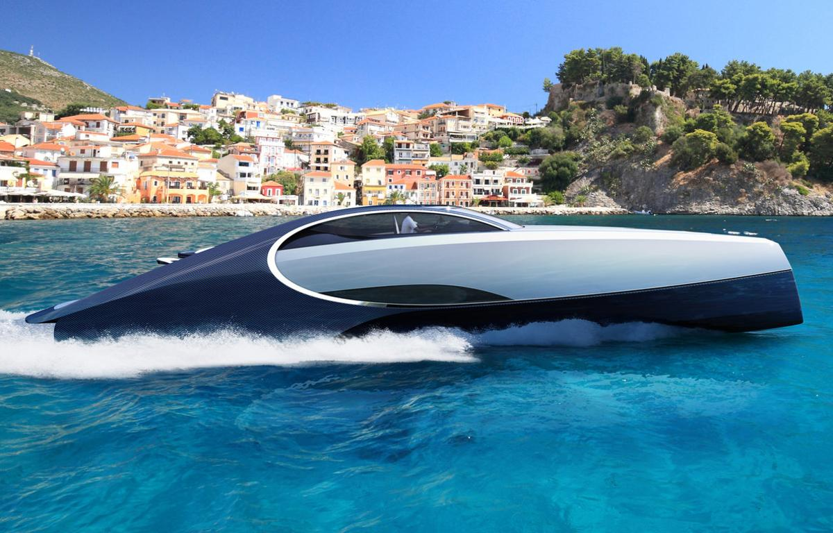 The Bugatti Niniette 66 on the water